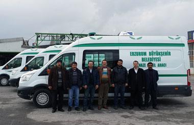 Erzurum Büyükşehir Belediyesine 3 Adet Cenaze Nakil Aracı Teslim Edilmiştir