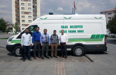 Kayseri İli Talas Belediyesi'ne Panel Van Cenaze Yıkama Aracı Teslim Edilmiştir