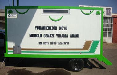 Sivas İli Yıldızeli İlçesi Yukarıekecik Köyü Morglu Cenaze Yıkama Aracı