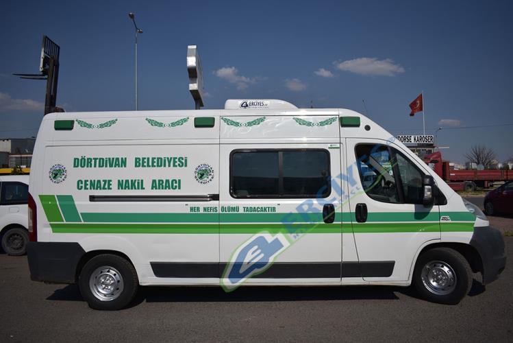 Bolu Dörtdivan Belediyesi'ne Cenaze Nakil Aracı Verilmiştir