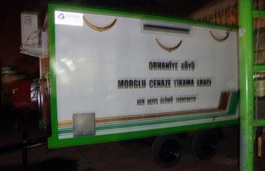 Muğla'nın Orhaniye Köyüne Morglu Cenaze Yıkama Aracı