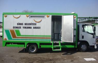 Sivas Belediyesine Cenaze Yıkama Aracı
