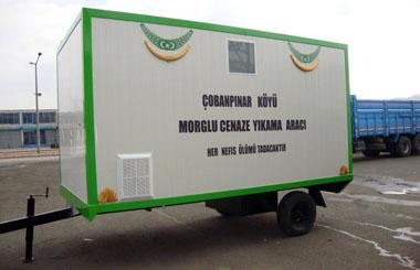 Burdur İli Bucak İlçesi Çopanpınar Köyü E-101 Ekonomik Tip Cenaze Yıkama Aracı