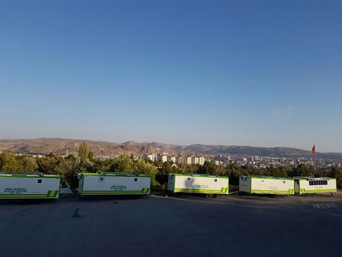 Sivas Belediyesine 5 Adet 8 Metrelik Tam Donanımlı Taziye Karavanı