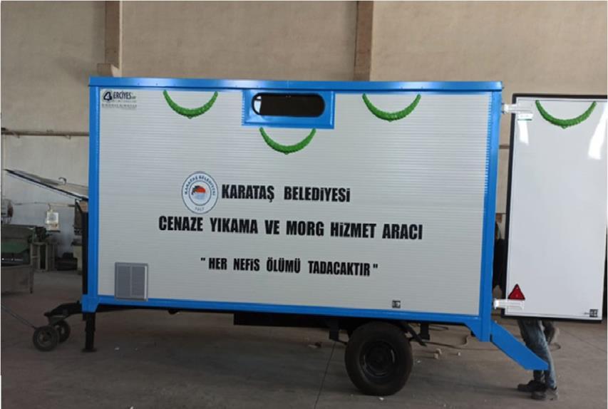 Adana Karataş Belediyesi'ne Morglu Cenaze Yıkama Aracı Verilmiştir